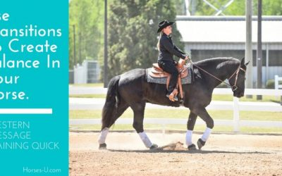 Use Transitions To Create Balance  – Western Dressage Training Quick Tip